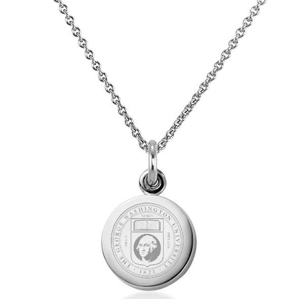 George Washington University Necklace with Charm in Sterling Silver