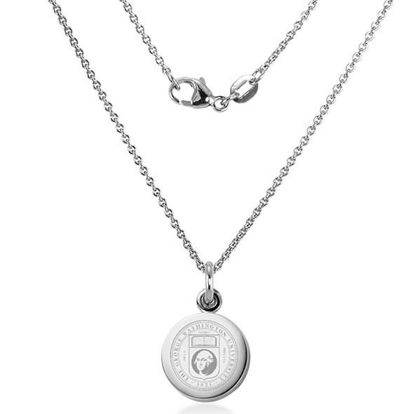 George Washington University Necklace with Charm in Sterling Silver - Image 2