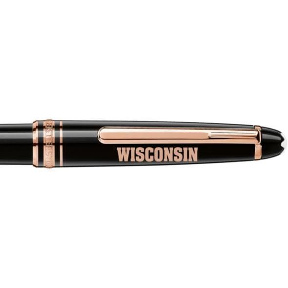 Wisconsin Montblanc Meisterstück Classique Ballpoint Pen in Red Gold - Image 2