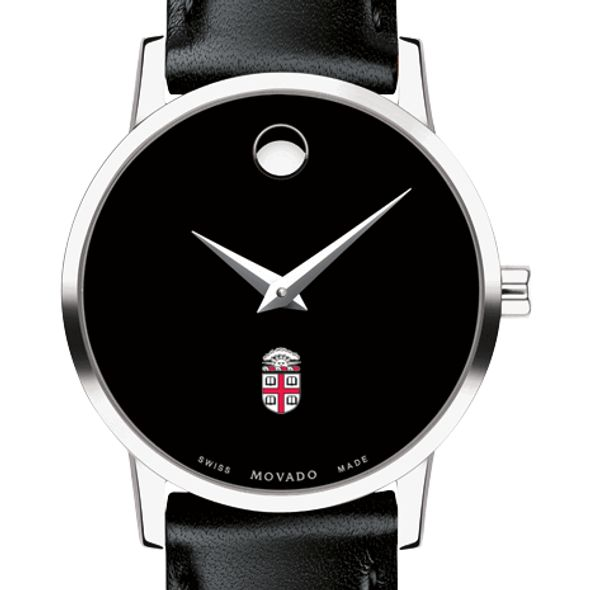 Brown University Women's Movado Museum with Leather Strap