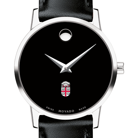Brown Women's Movado Museum with Leather Strap