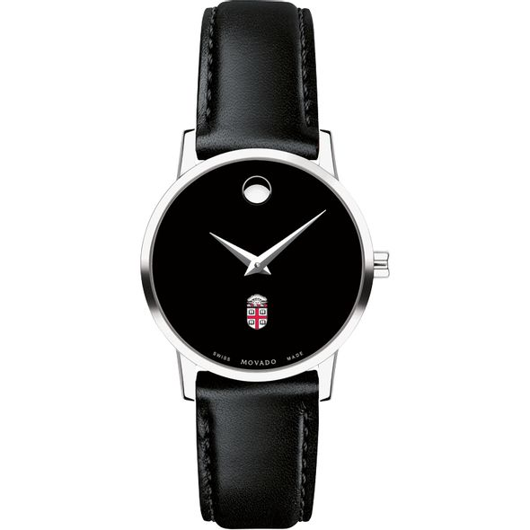 Brown University Women's Movado Museum with Leather Strap - Image 2