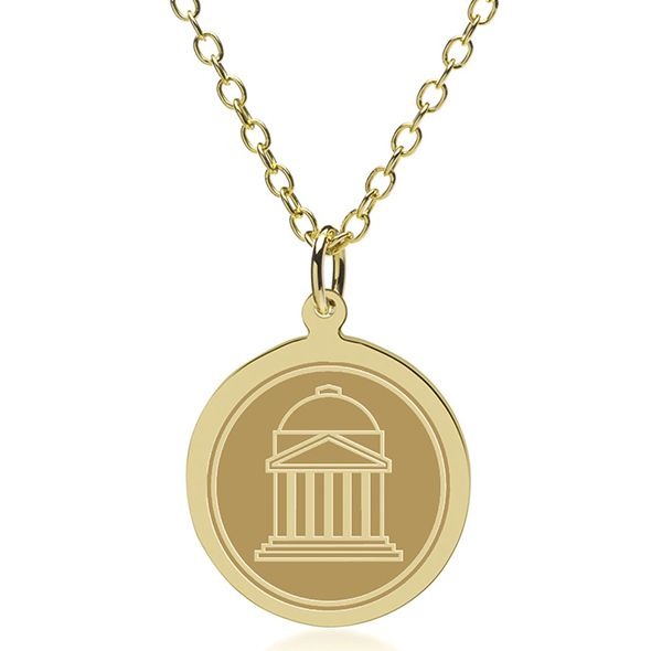 Southern Methodist University 14K Gold Pendant & Chain