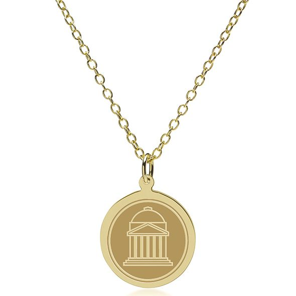 Southern Methodist University 14K Gold Pendant & Chain - Image 2