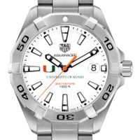 University of Miami Men's TAG Heuer Steel Aquaracer