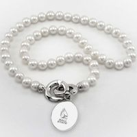 Ball State Pearl Necklace with Sterling Silver Charm