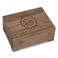 Purdue University Solid Walnut Desk Box