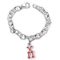 Chi Omega Sterling Silver Charm Bracelet w/ Letter Charm