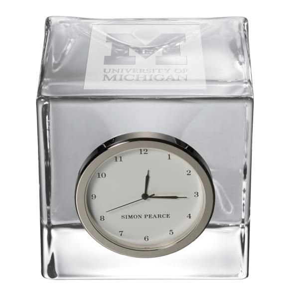 Michigan Glass Desk Clock by Simon Pearce - Image 2