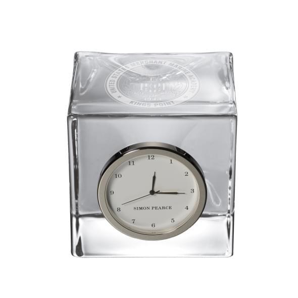 Merchant Marine Glass Desk Clock by Simon Pearce