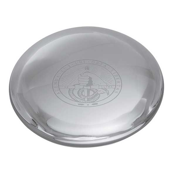 Davidson College Glass Dome Paperweight by Simon Pearce - Image 2