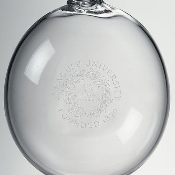 Syracuse University Glass Ornament by Simon Pearce - Image 2