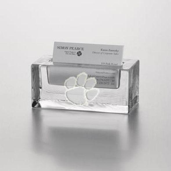 Clemson university glass business cardholder by simon pearce at mhart clemson glass business cardholder by simon pearce colourmoves