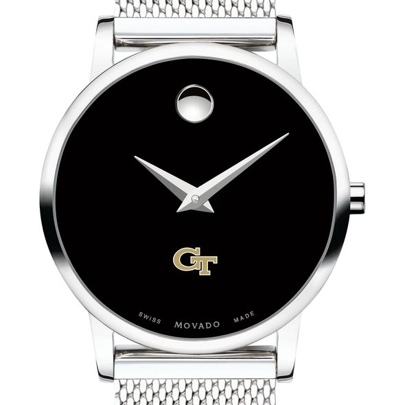 Georgia Tech Women's Movado Museum with Mesh Bracelet