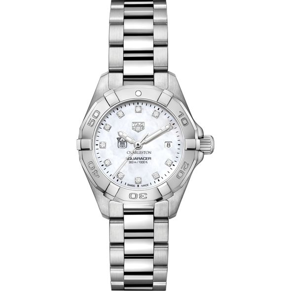 College of Charleston W's TAG Heuer Steel Aquaracer w MOP Dia Dial - Image 2