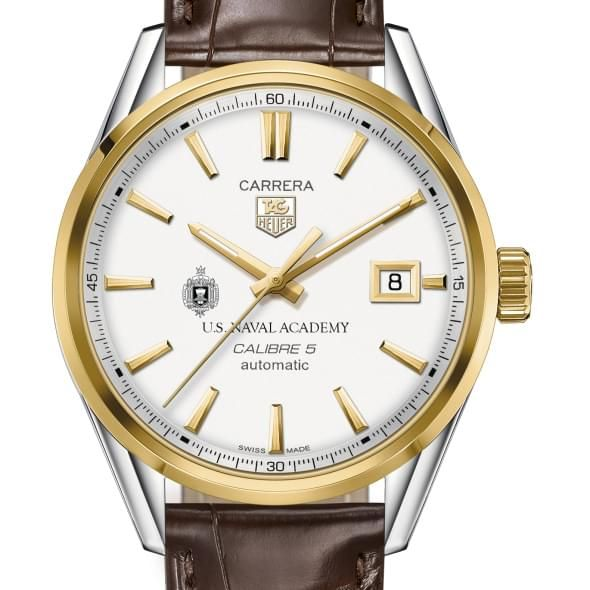 Naval Academy Men's TAG Heuer Two-Tone Carrera with Strap