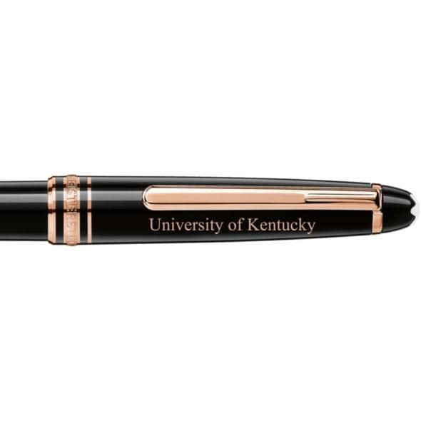 University of Kentucky Montblanc Meisterstück Classique Ballpoint Pen in Red Gold - Image 2