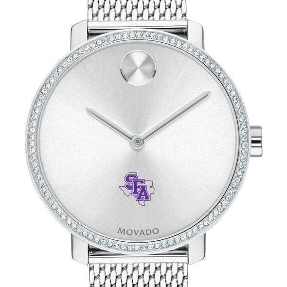 SFASU Women's Movado Bold with Crystal Bezel & Mesh Bracelet - Image 1