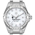 Indiana University W's TAG Heuer Steel Aquaracer with MOP Dia Dial & Bezel - Image 1