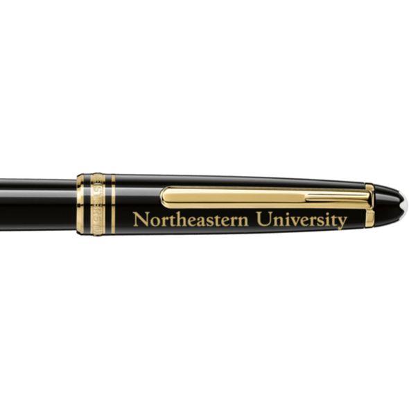 Northeastern Montblanc Meisterstück Classique Rollerball Pen in Gold - Image 2