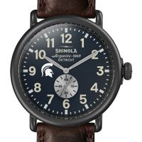 Michigan State Shinola Watch, The Runwell 47mm Midnight Blue Dial
