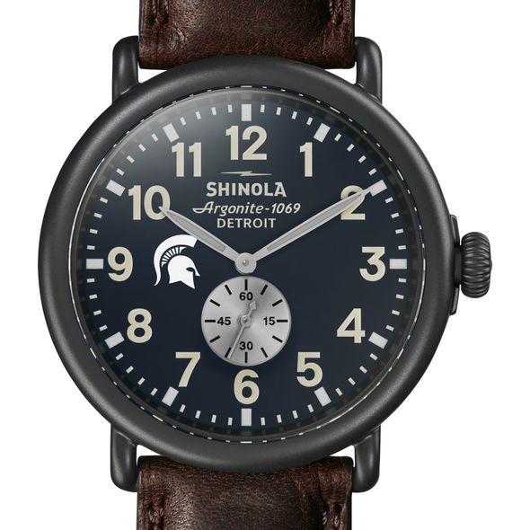 Michigan State Shinola Watch, The Runwell 47mm Midnight Blue Dial