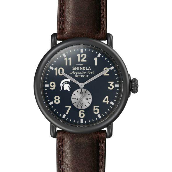 Michigan State Shinola Watch, The Runwell 47mm Midnight Blue Dial - Image 2