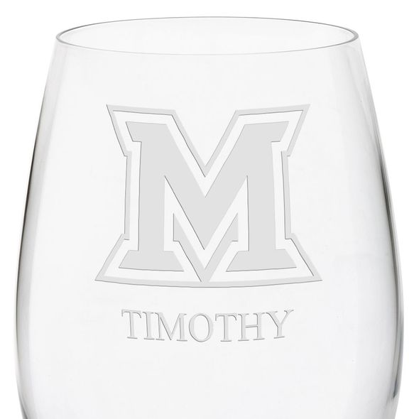 Miami University in Ohio Red Wine Glasses - Set of 4 - Image 3