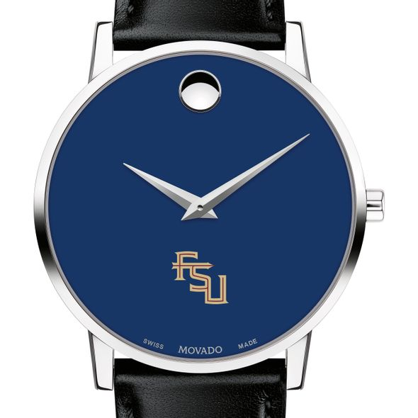 Florida State University Men's Movado Museum with Blue Dial & Leather Strap - Image 1