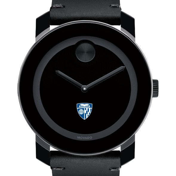Johns Hopkins University Men's Movado BOLD with Leather Strap