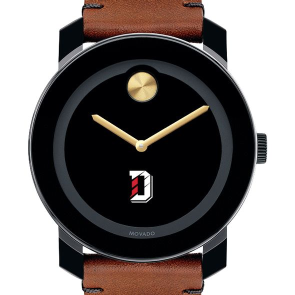 Davidson College Men's Movado BOLD with Brown Leather Strap