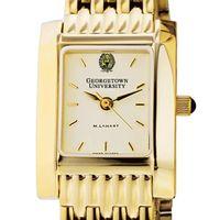Georgetown Women's Gold Quad Watch with Bracelet