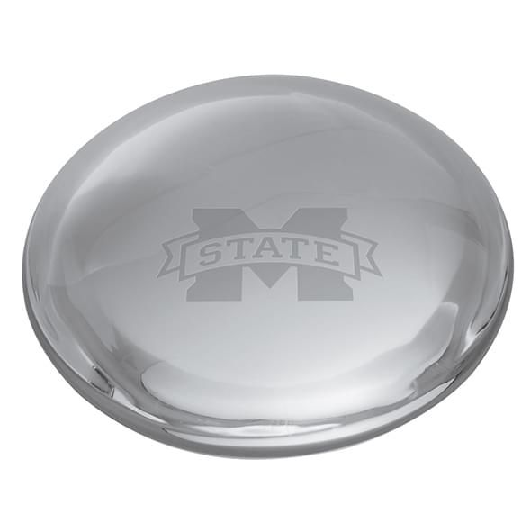 Mississippi State Glass Dome Paperweight by Simon Pearce - Image 2