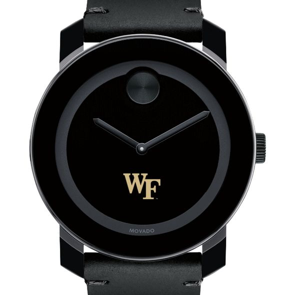 Wake Forest University Men's Movado BOLD with Leather Strap