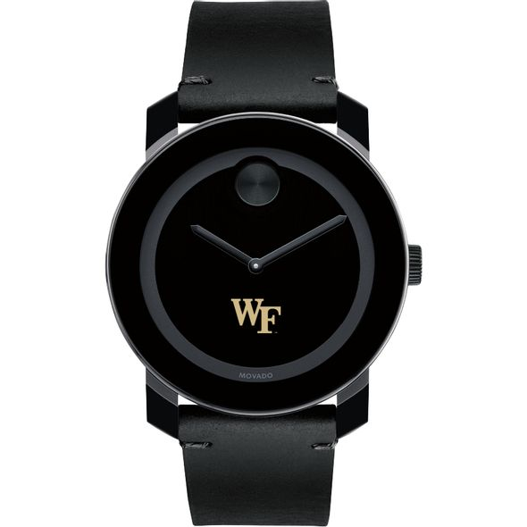Wake Forest University Men's Movado BOLD with Leather Strap - Image 2