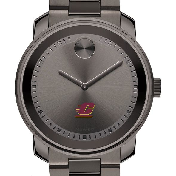 Central Michigan Men's Movado BOLD Gunmetal Grey