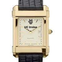 UC Irvine Men's Gold Quad with Leather Strap