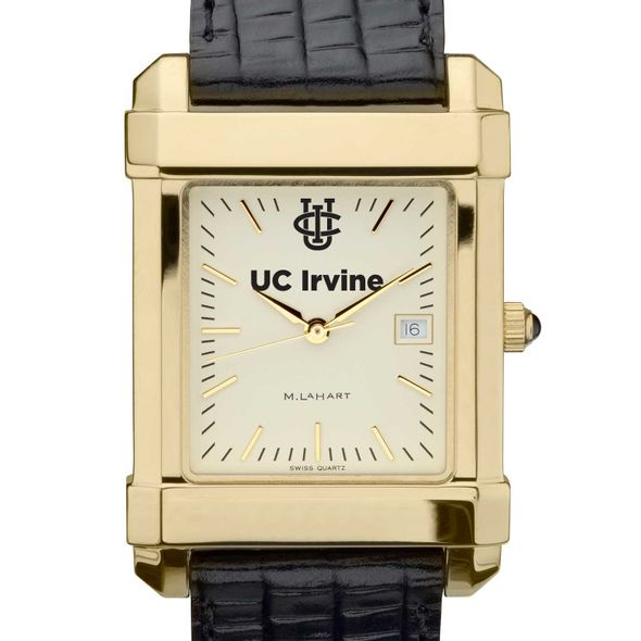UC Irvine Men's Gold Quad with Leather Strap - Image 1