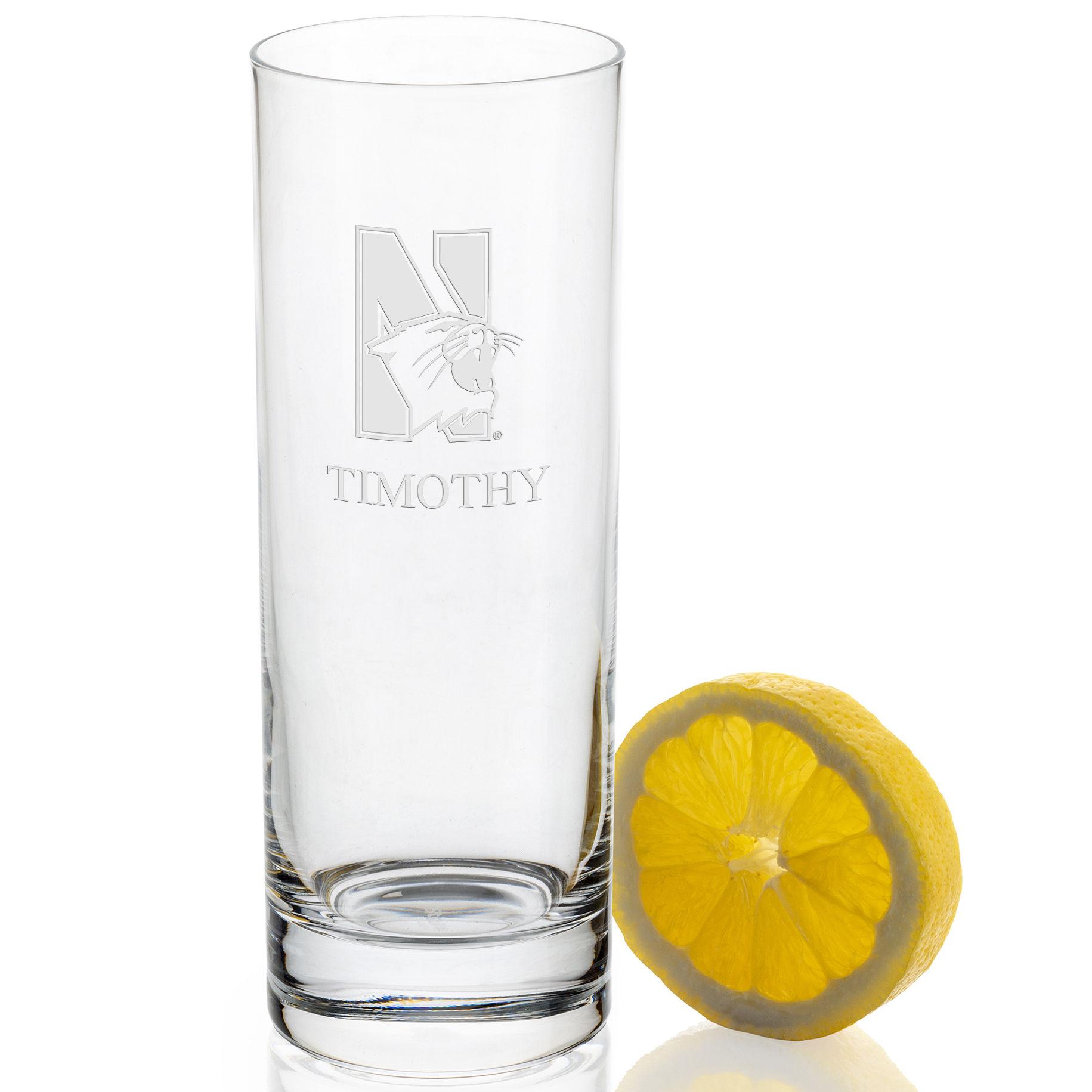 Northwestern University Iced Beverage Glasses - Set of 2 - Image 2