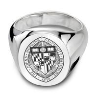 Johns Hopkins University Sterling Silver Oval Signet Ring