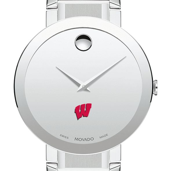 University of Wisconsin Men's Movado Sapphire Museum with Bracelet