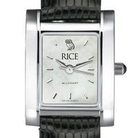 Rice University Women's MOP Quad with Leather Strap