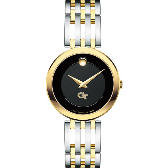 Georgia Tech Women's Movado Esparanza Two-Tone Museum with Bracelet - Image 2