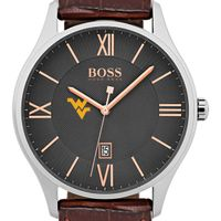 West Virginia University Men's BOSS Classic with Leather Strap from M.LaHart