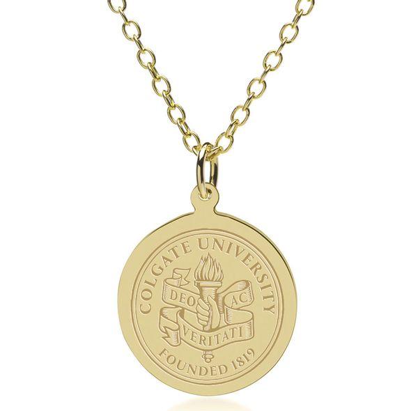 Colgate 14K Gold Pendant & Chain