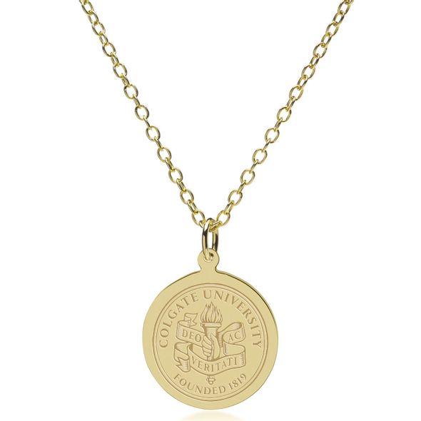 Colgate 14K Gold Pendant & Chain - Image 2