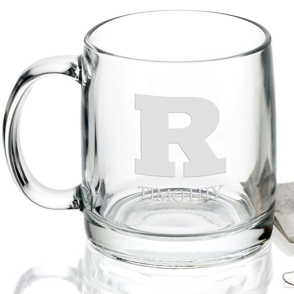 Rutgers University 13 oz Glass Coffee Mug - Image 2