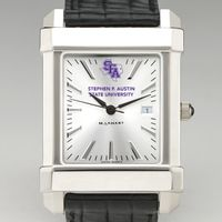 SFASU Men's Collegiate Watch with Leather Strap