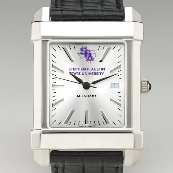 SFASU Men's Collegiate Watch with Leather Strap - Image 1
