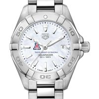 University of Arizona Women's TAG Heuer Steel Aquaracer w MOP Dial